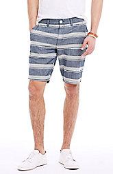 Striped Chambray Short