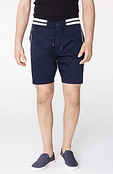 Double-Stripe Athletic Short