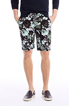 Vintage Floral Chino Short