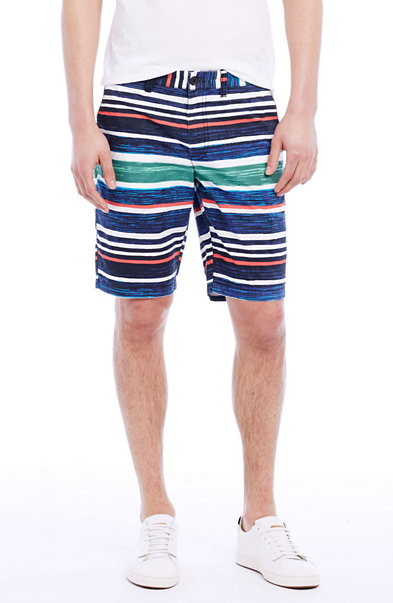 Painterly Striped Short
