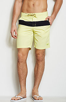 Striped Colorblock Swim Short