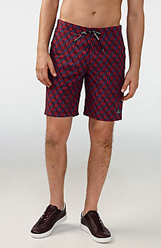 Packable Retro Swim Trunk
