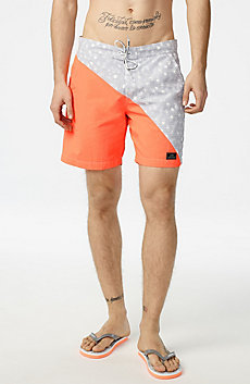 Diagonal Block Swim Trunk