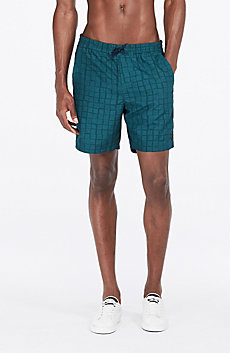 Square Print Swim Trunk