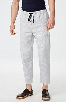 Drawstring Linen Cargo Pant