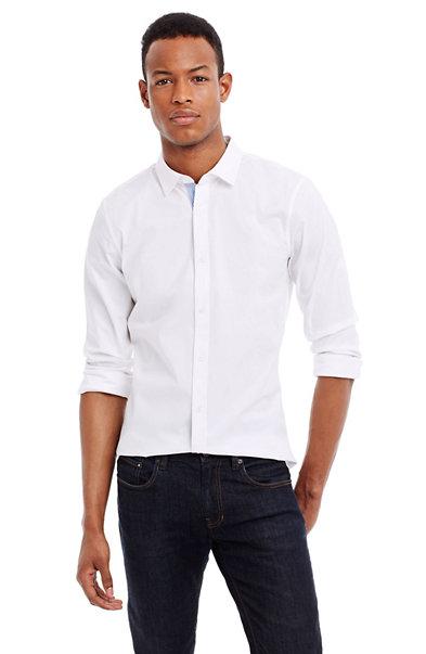 Stripe Placket Slim Stretch Shirt