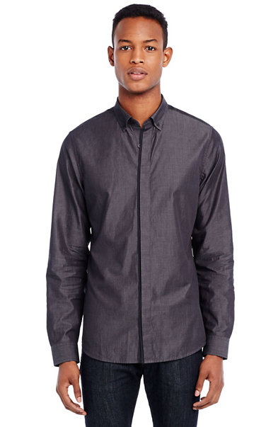 Concealed Placket Shirt
