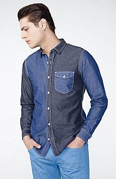 Pieced Utility Shirt