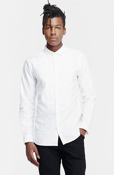 Tonal Textured Bib Shirt