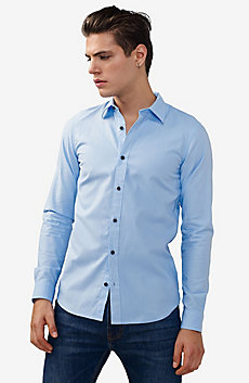 Textured No-Iron Slim-Fit Shirt