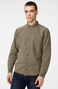 Pigment-Dyed Button-Down Shirt