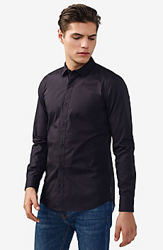 Solid Stretch Slim-Fit Shirt