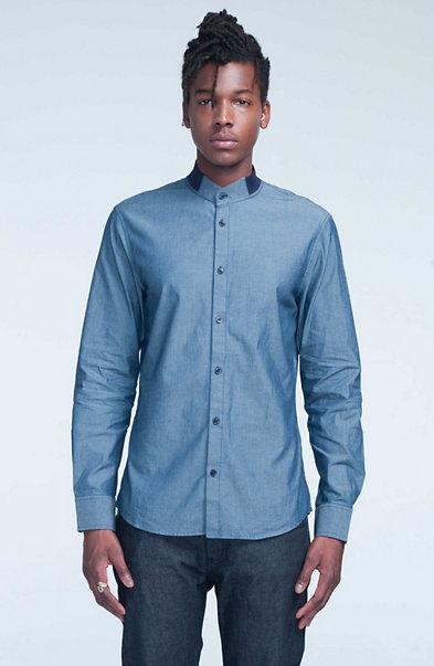 Rib Collar Shirt