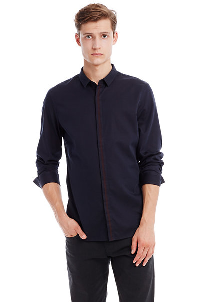 Placket Stripe Shirt