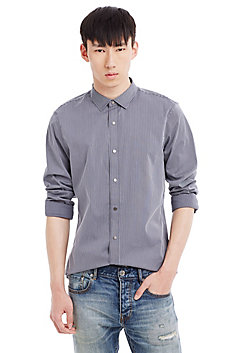Slim Fit Stripe Stretch Shirt