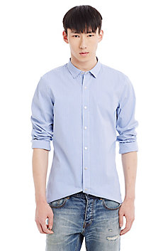 Slim Fit Stripe Stretch Shirt