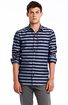 Wide Stripe Oxford Shirt