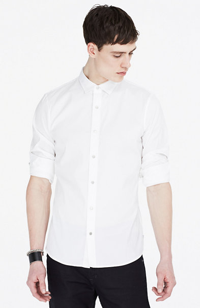 Striped Slim Stretch Shirt