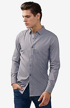 Striped Slim Stretch Shirt