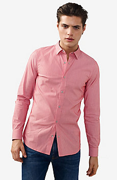Snap-Front Stretch Slim-Fit Shirt