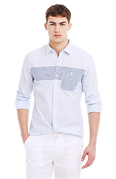 Block Striped Cotton Shirt
