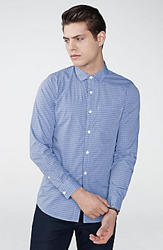 Slim-Fit Check Tab Collar Shirt