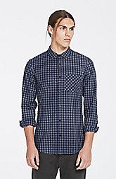 Mixed Plaid/Check Shirt