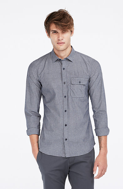 Bias Pocket Check Shirt