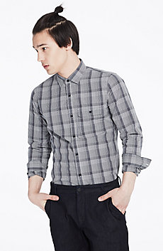 Bicolor Plaid Shirt