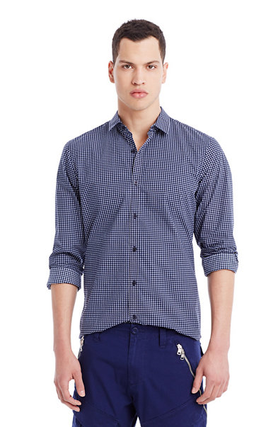 Grid Check Cotton Shirt