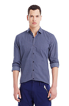 Grid Check Cotton Shirt