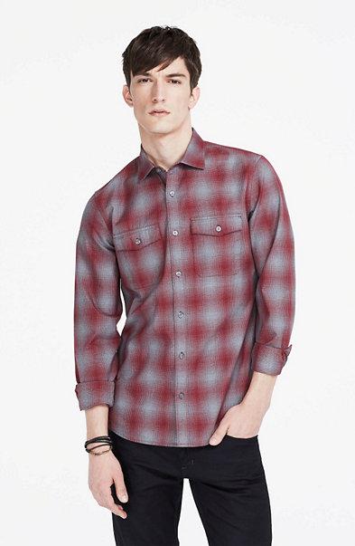Heathered Check Shirt