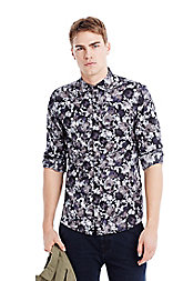 Poplin Flower Print Shirt