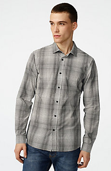 Yarn-Dyed Shifting Grid Shirt