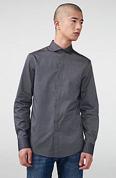 Linear Microprint Shirt