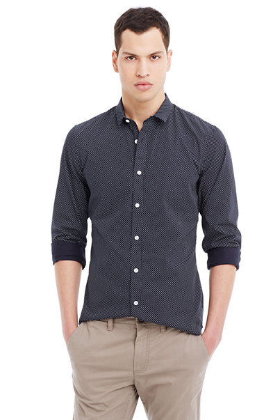Pindot Cotton Shirt