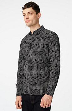 Negative Space Grid Dot Shirt