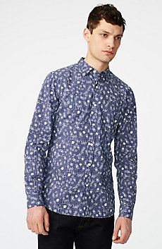 Negative Space Dot Print Shirt
