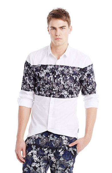 Flower Stripe Shirt