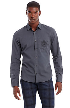 Embroidered Pocket Shirt