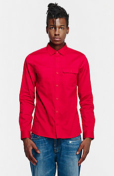 Cotton Sateen Utility Shirt