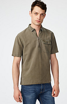 Linen Pocket Popover Shirt