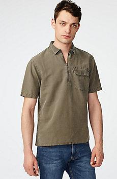 Linen Pocket Popover Shirt