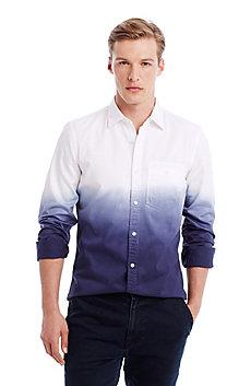Dip-Dyed Indigo Shirt