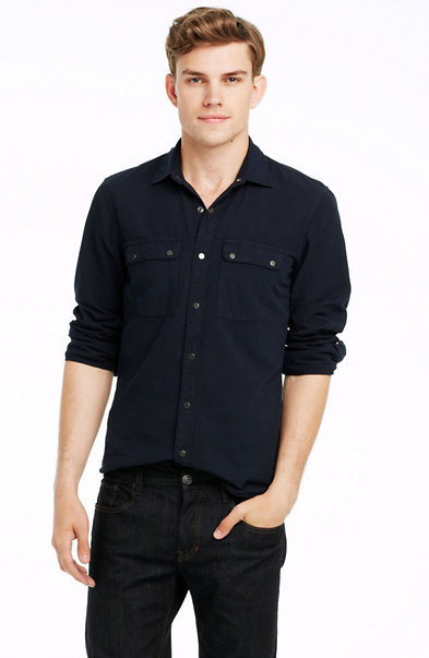Engineer Stripe Denim Shirt