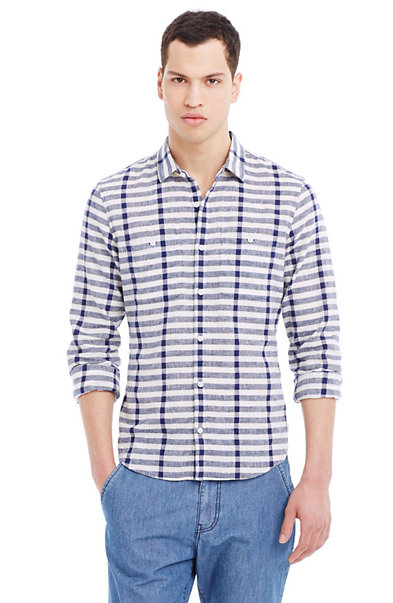Cotton & Linen Striped Shirt