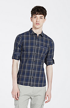 Blocked Check Shirt