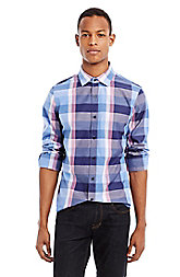 Blue Plaid Shirt