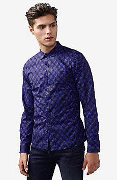 Fractured Dot Print Shirt