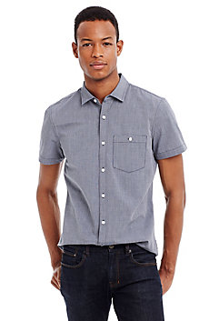Short Sleeve Crosshatch Shirt